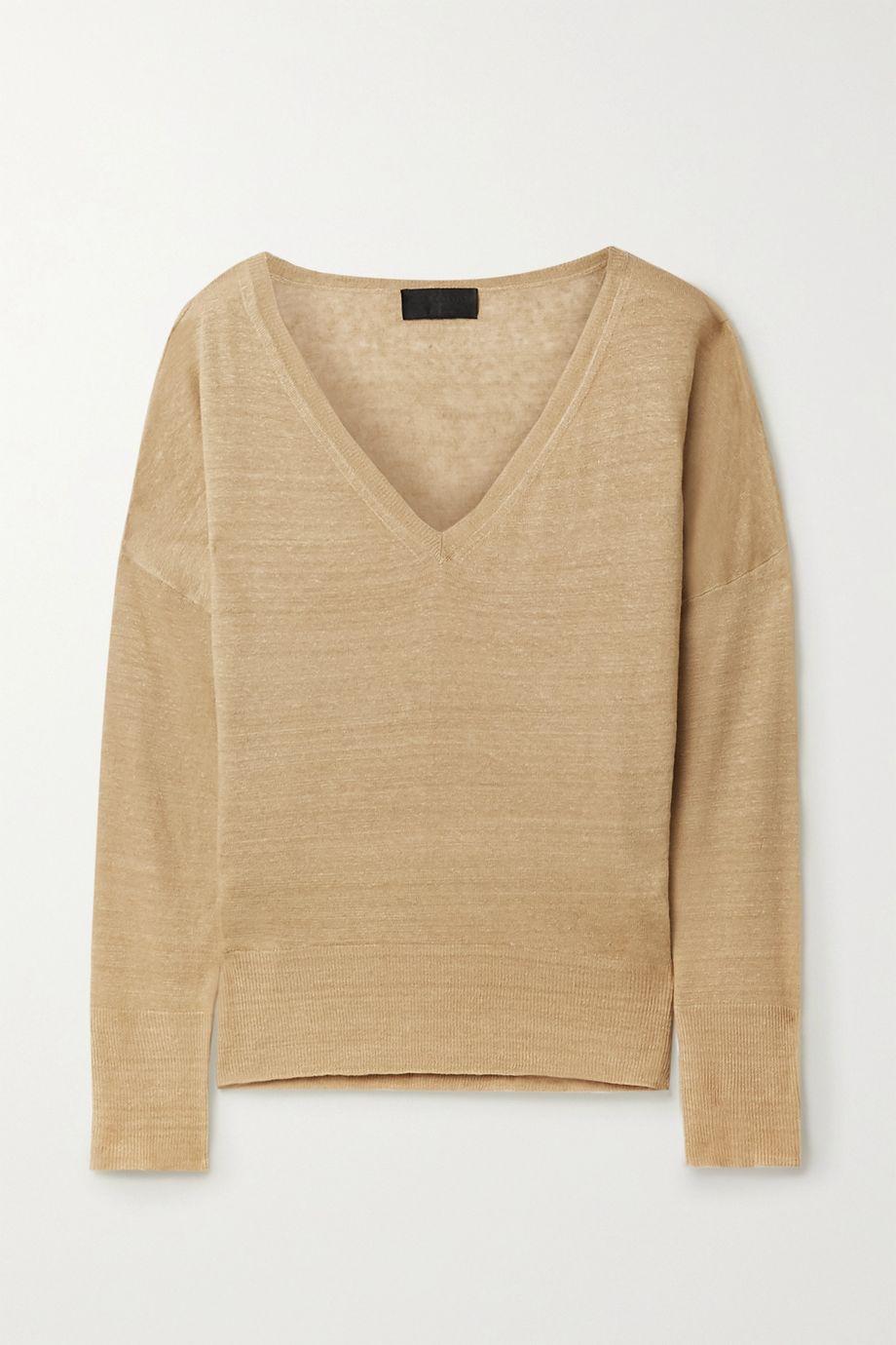 Nili Lotan Ginny slub linen sweater