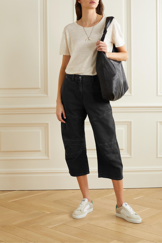 Nili Lotan Martil cropped paneled stretch-cotton tapered pants