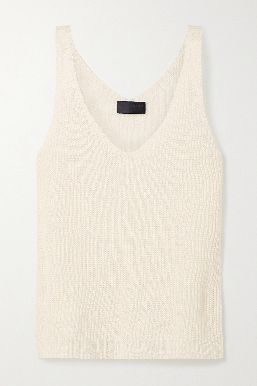 Nili Lotan Nala open-knit linen tank