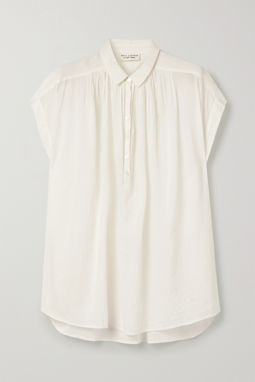 Nili Lotan Normandy cotton-voile blouse