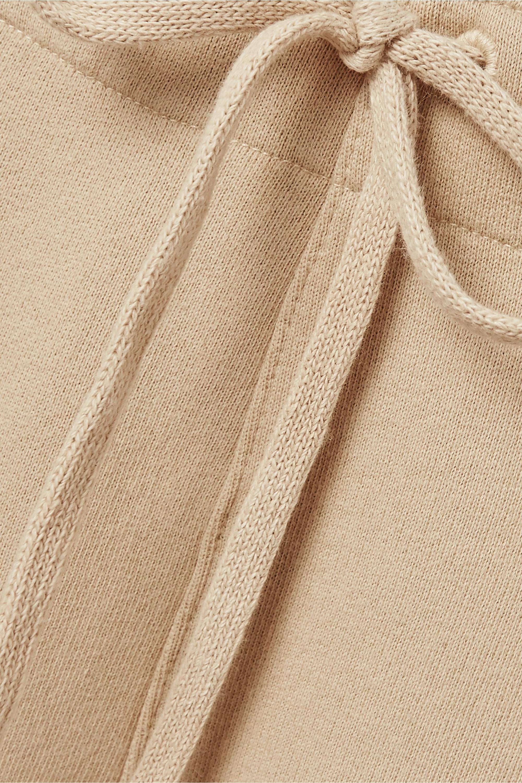 Beige Kiki Cropped Cotton-jersey Track Pants | Nili Lotan