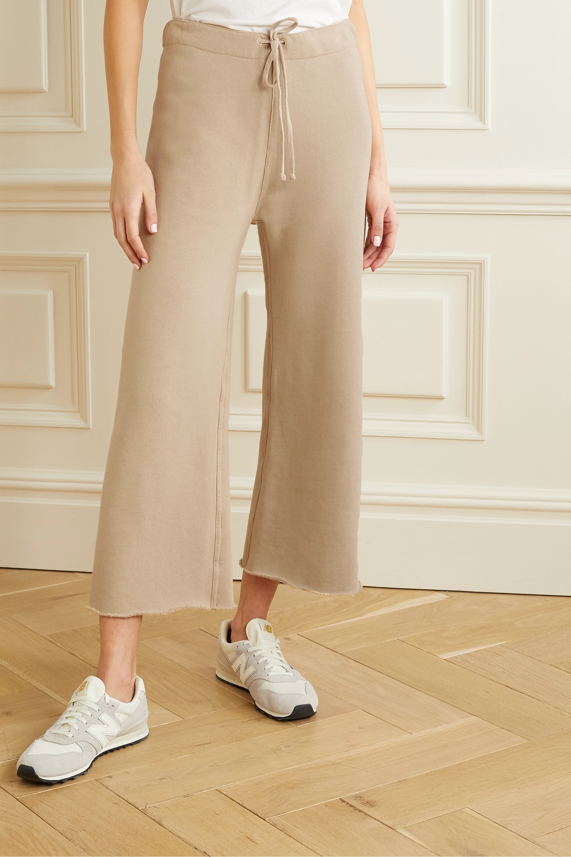 Nili Lotan Pantalon de survêtement raccourci en jersey de coton effet vieilli Kiki