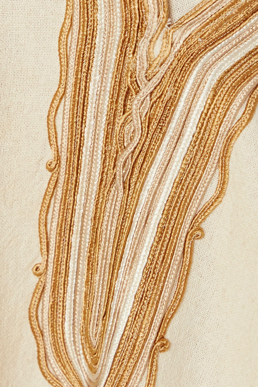 Nili Lotan Robe midi en gaze de soie à broderies Honor