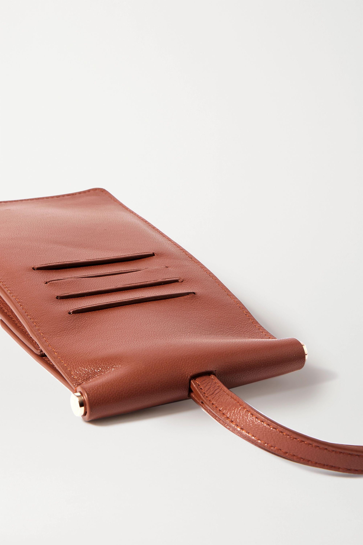 Gabriela Hearst Pochette pour téléphone en cuir Cardi