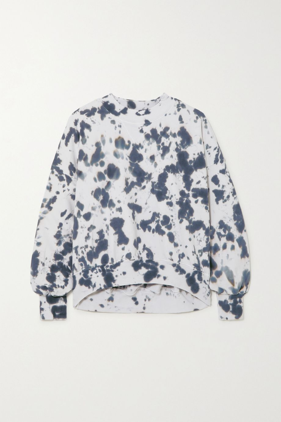 Bassike Cutout tie-dyed cotton-jersey sweatshirt