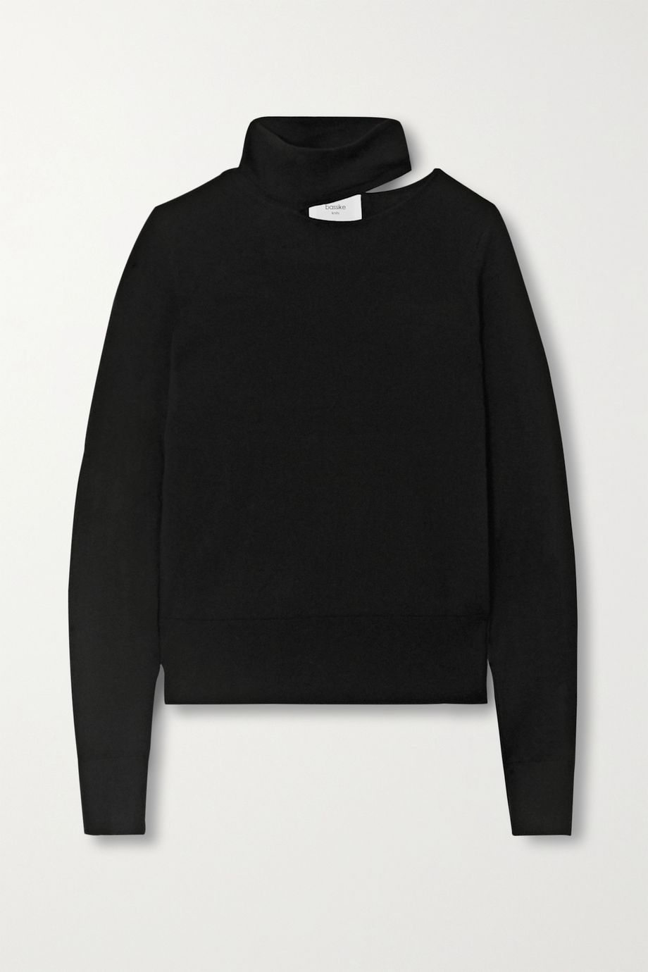 Bassike Cutout merino wool turtleneck top