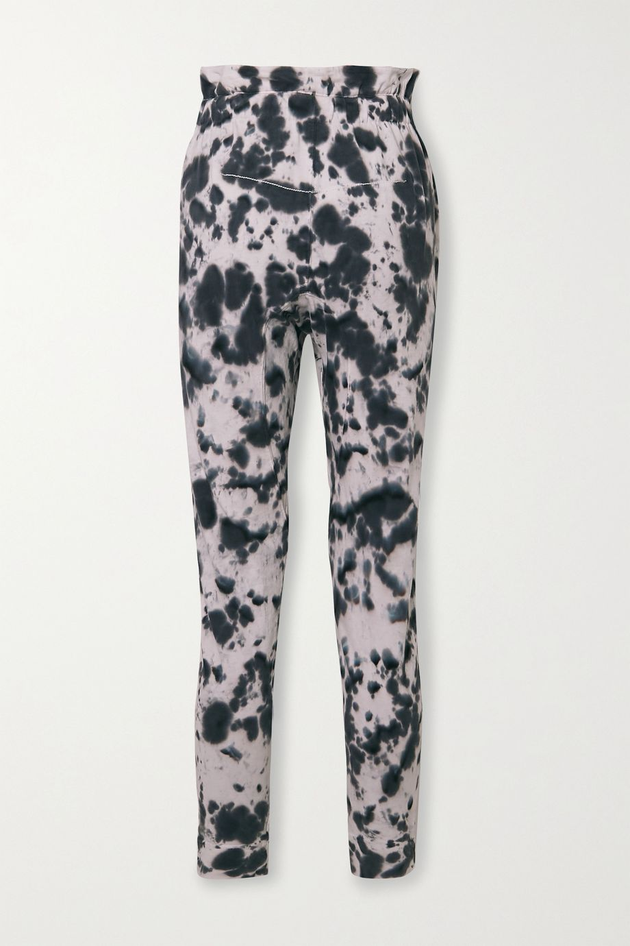 Bassike Tie-dyed organic cotton-jersey track pants