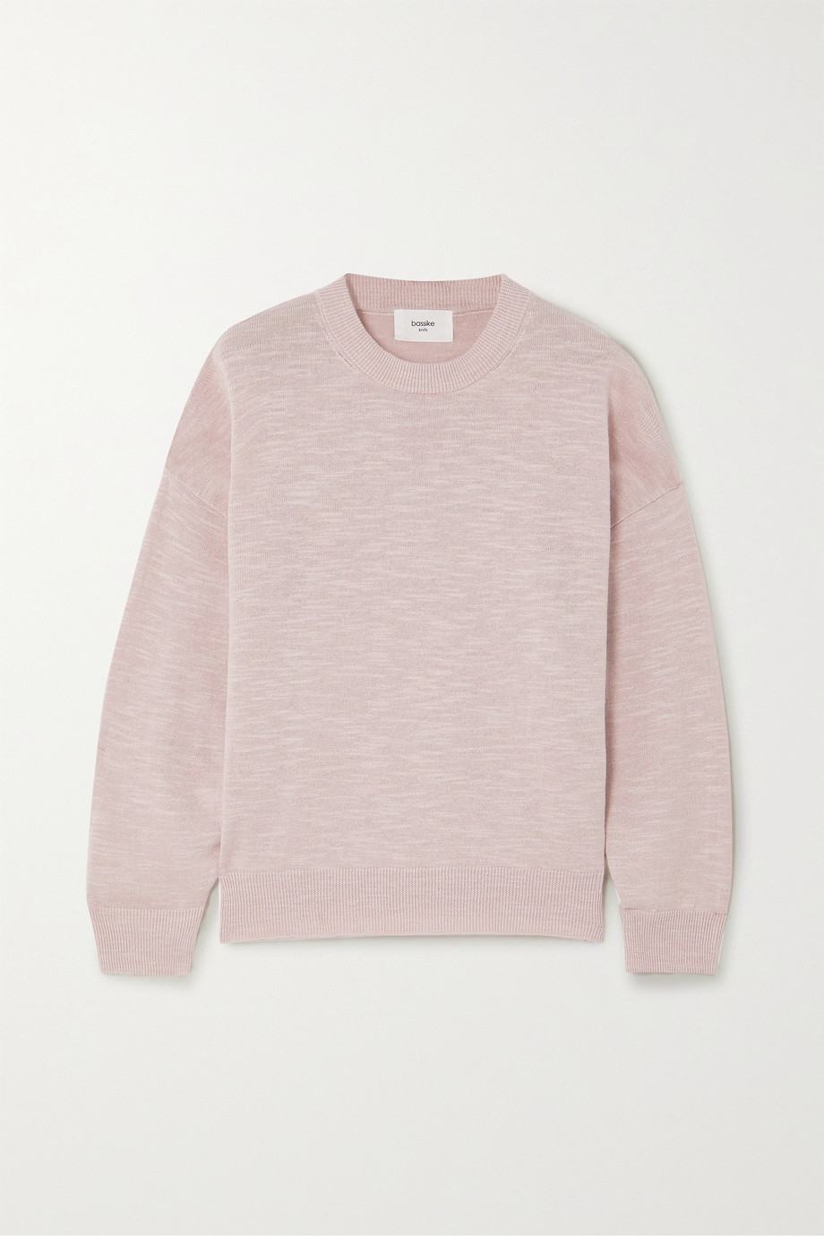 Bassike Linen and cotton-blend sweater