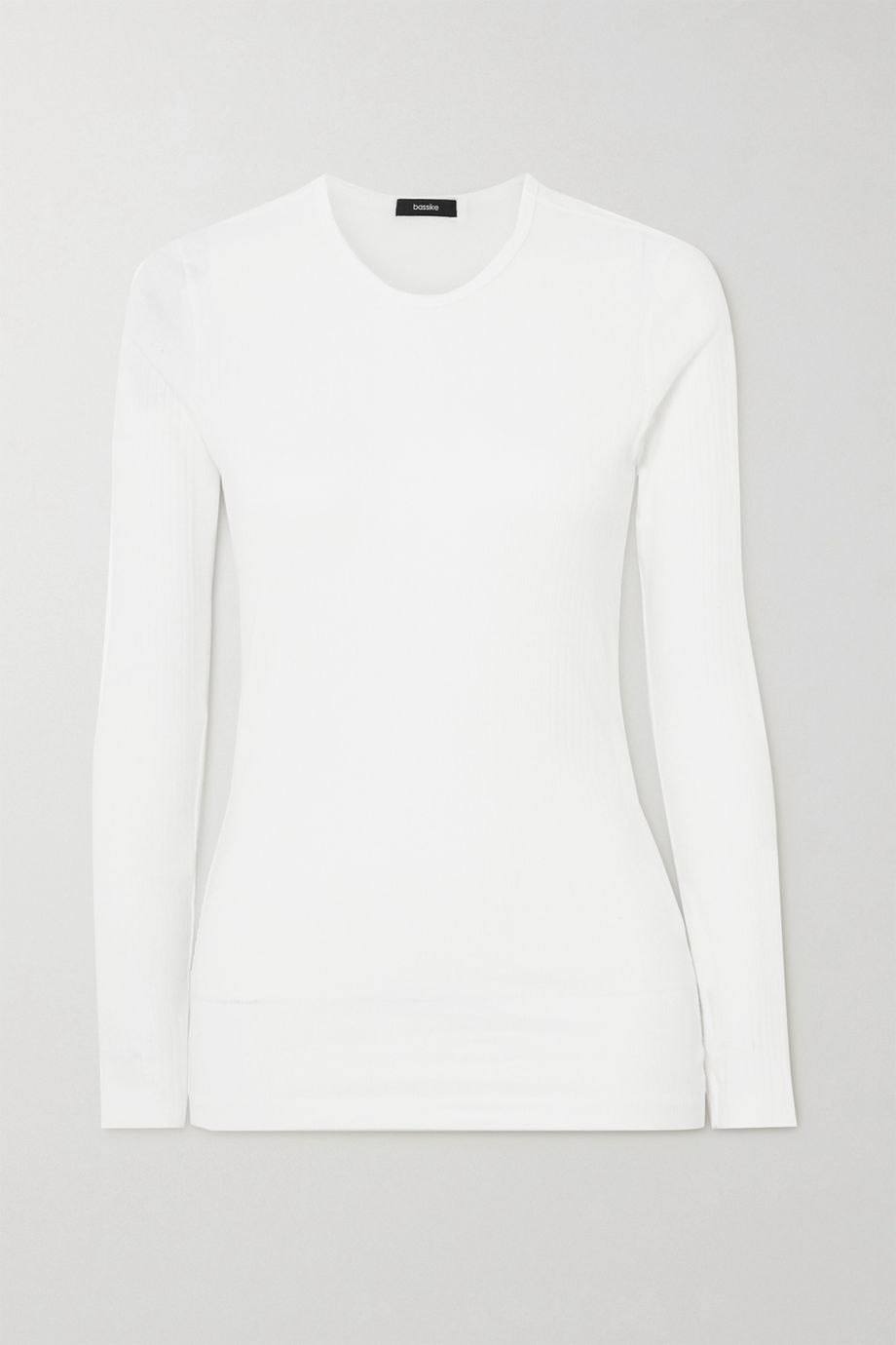 Bassike Ribbed organic cotton-jersey top