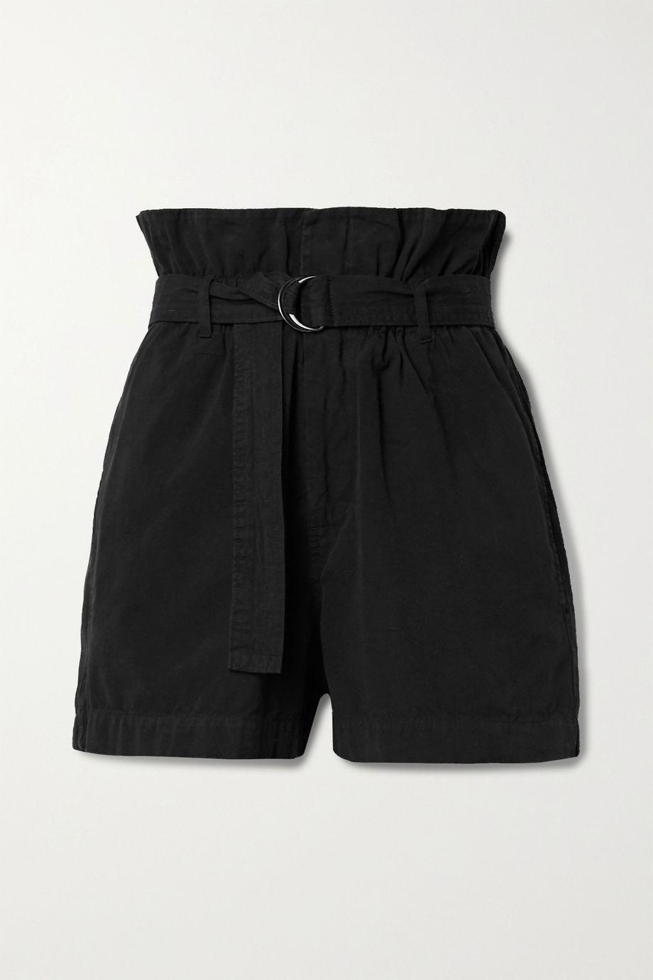 Bassike 配腰带纯棉帆布短裤