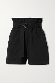 Bassike Belted cotton-canvas shorts