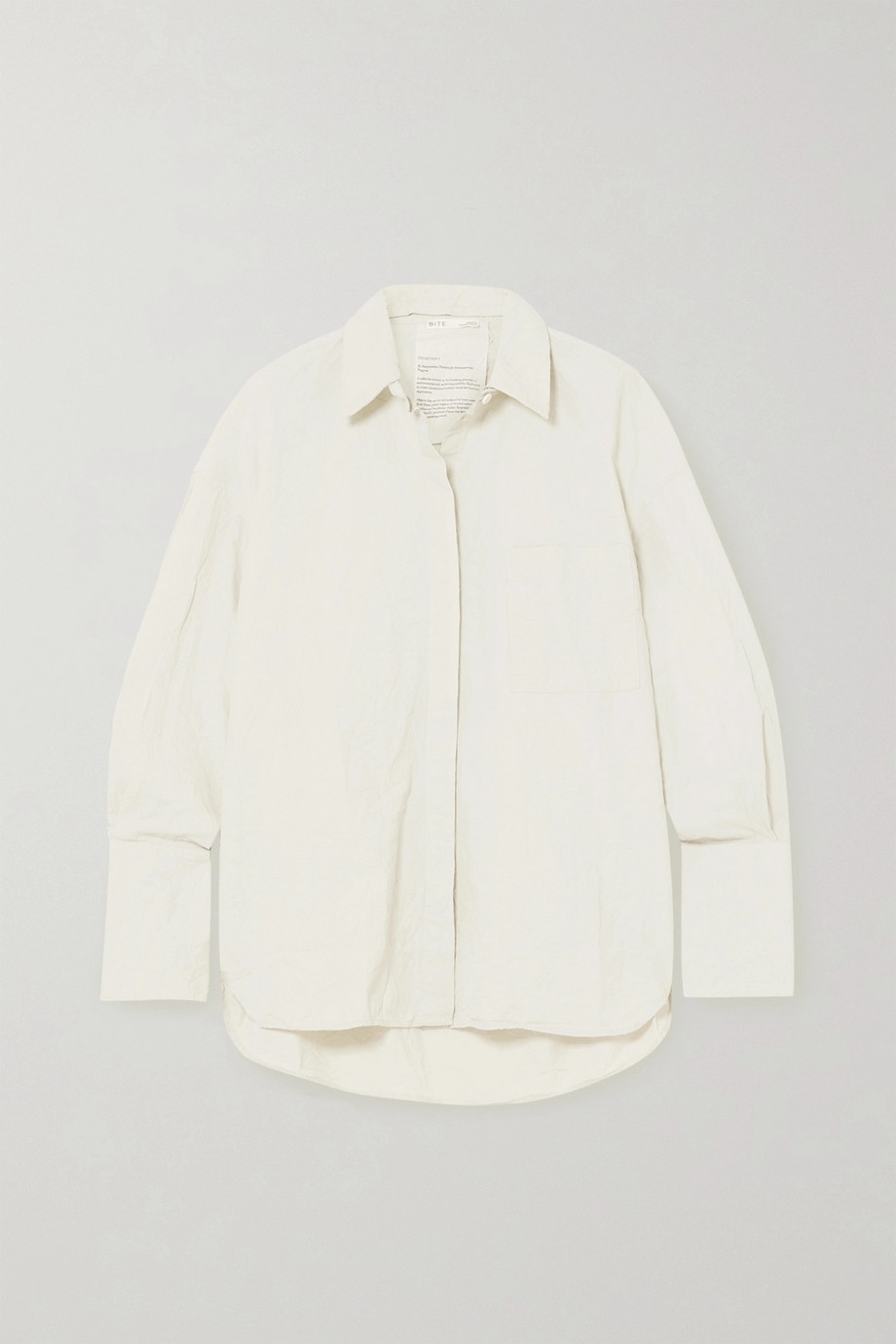 BITE Studios + NET SUSTAIN Oversized-Hemd aus Biobaumwolle in Knitteroptik
