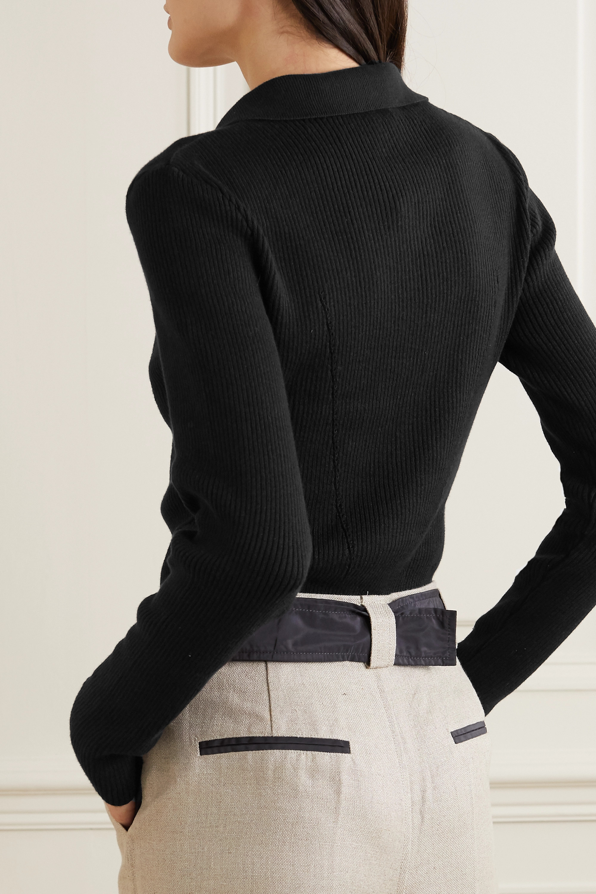 BITE Studios + NET SUSTAIN ribbed organic cotton and silk-blend cardigan