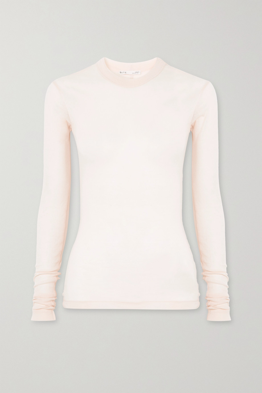 BITE Studios + NET SUSTAIN ribbed organic cotton-jersey top