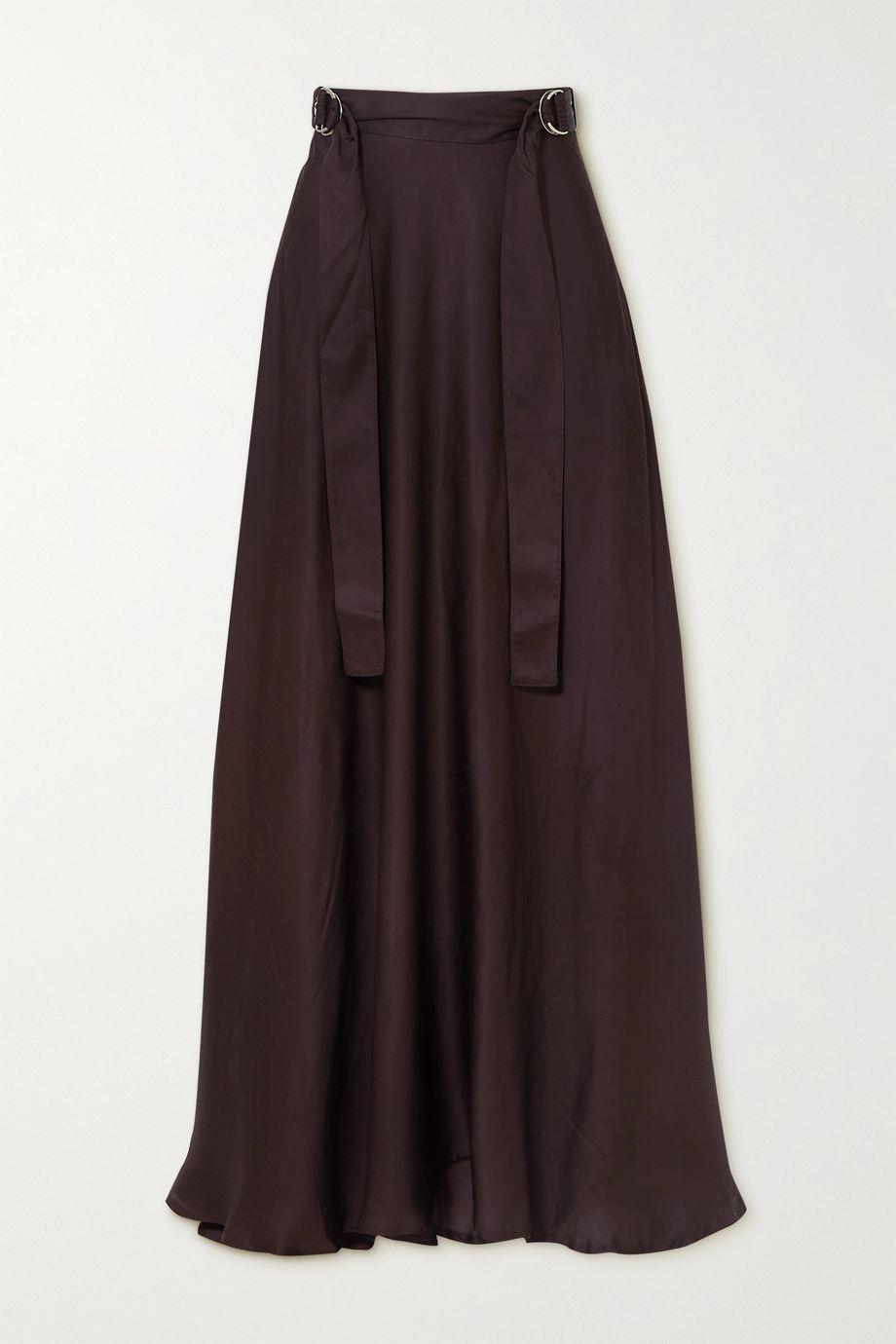BITE Studios + NET SUSTAIN belted satin maxi skirt