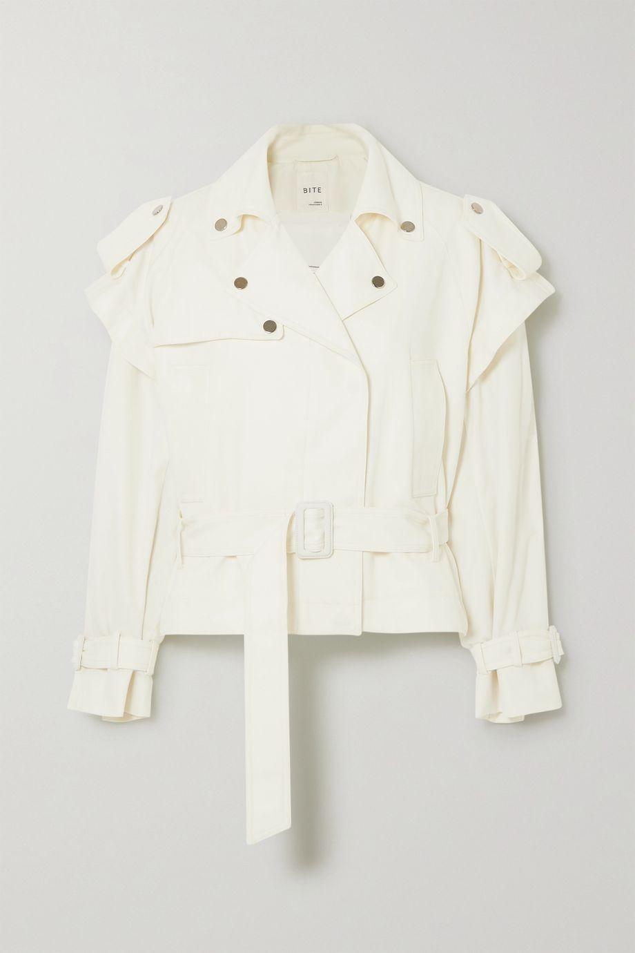 BITE Studios + NET SUSTAIN convertible organic cotton-blend denim biker jacket