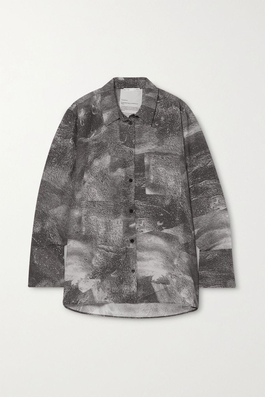 BITE Studios + NET SUSTAIN printed organic silk crepe de chine shirt