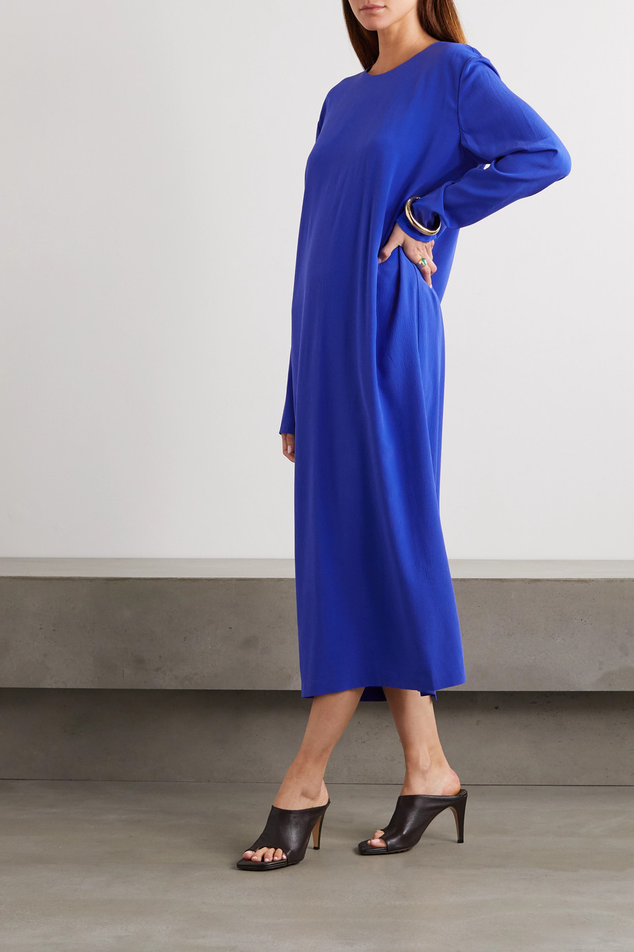 TOVE Nova silk-crepe midi dress