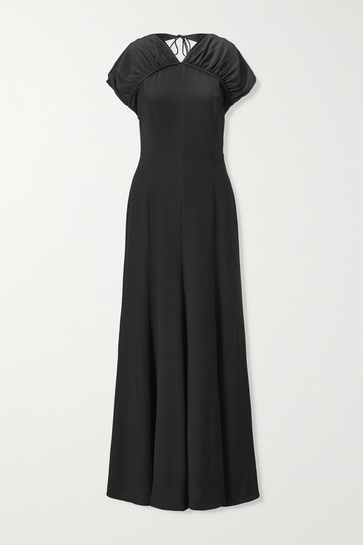 TOVE Yves open-back silk-crepe maxi dress