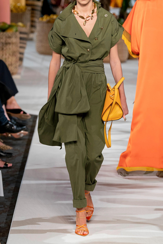 Oscar de la Renta Belted cotton-blend twill jumpsuit