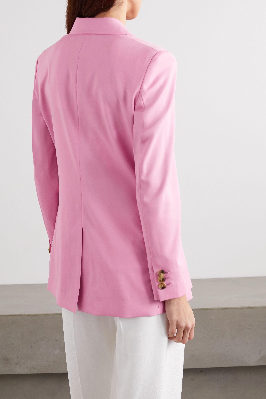Oscar de la Renta Double-breasted wool-blend twill blazer