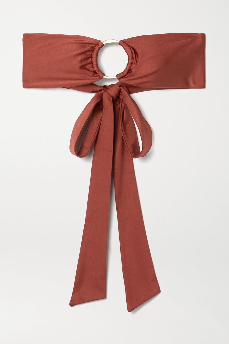 Cult Gaia Lexi embellished bandeau bikini top