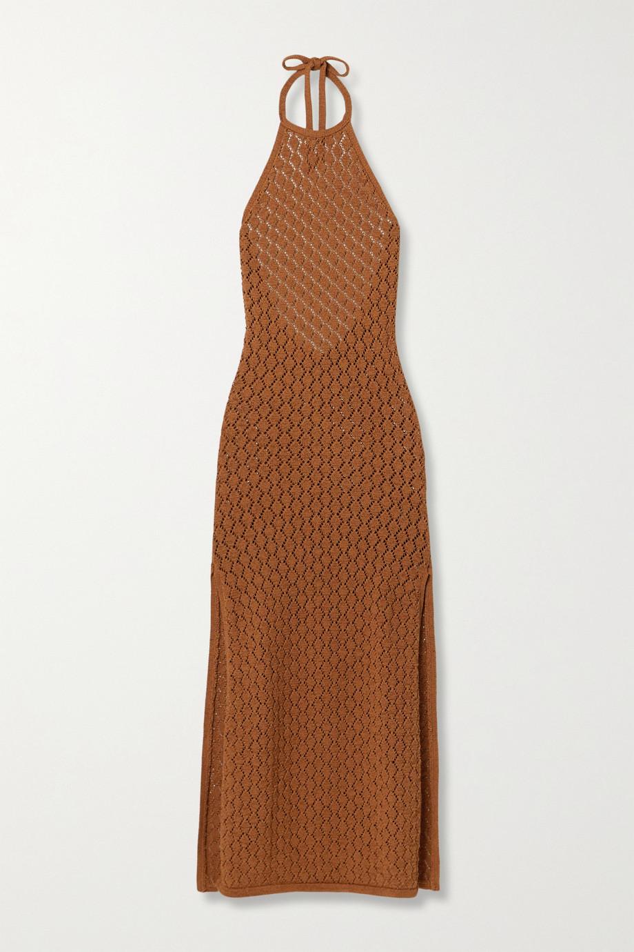 Cult Gaia Karen crocheted cotton-blend halterneck maxi dress