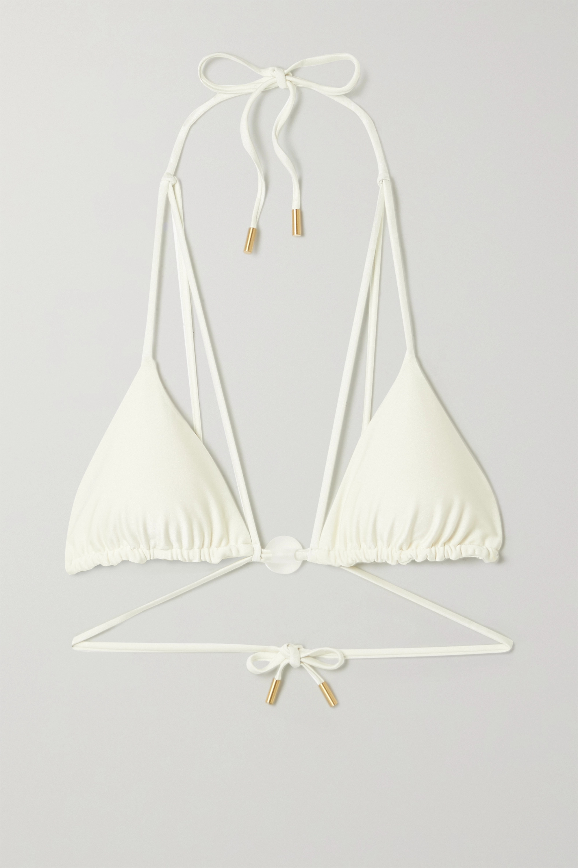 Cult Gaia Sloane embellished triangle bikini top
