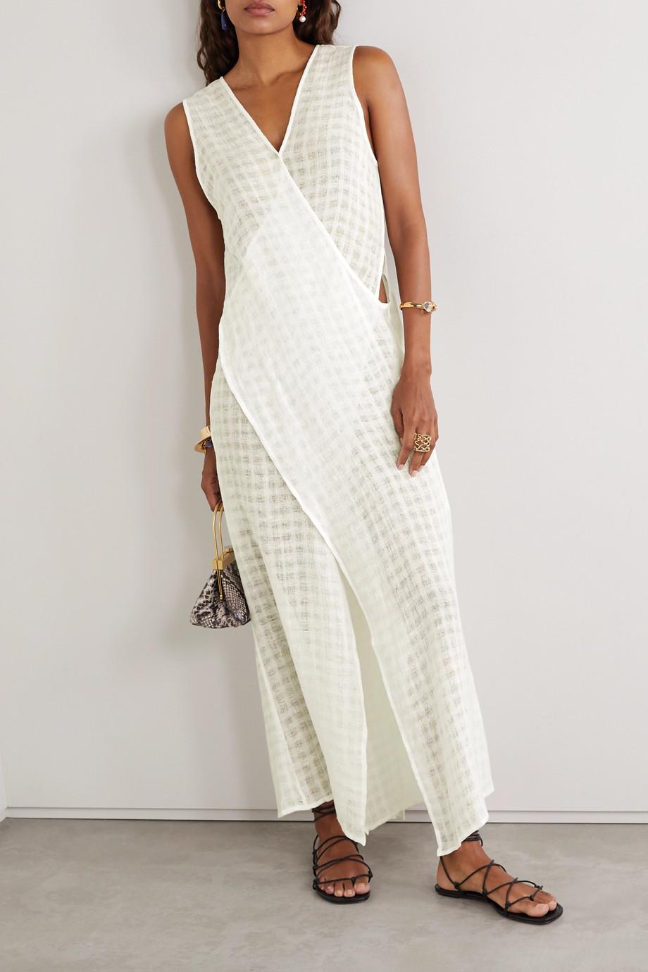 Cult Gaia Cortez draped linen-gauze dress