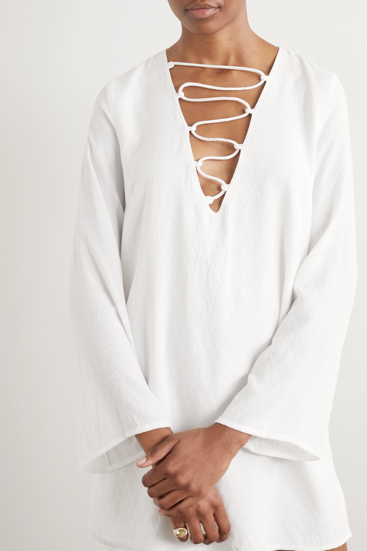 Cult Gaia Naomi lace-up crepe mini dress