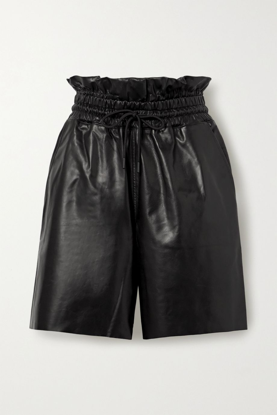 RtA Amata leather shorts