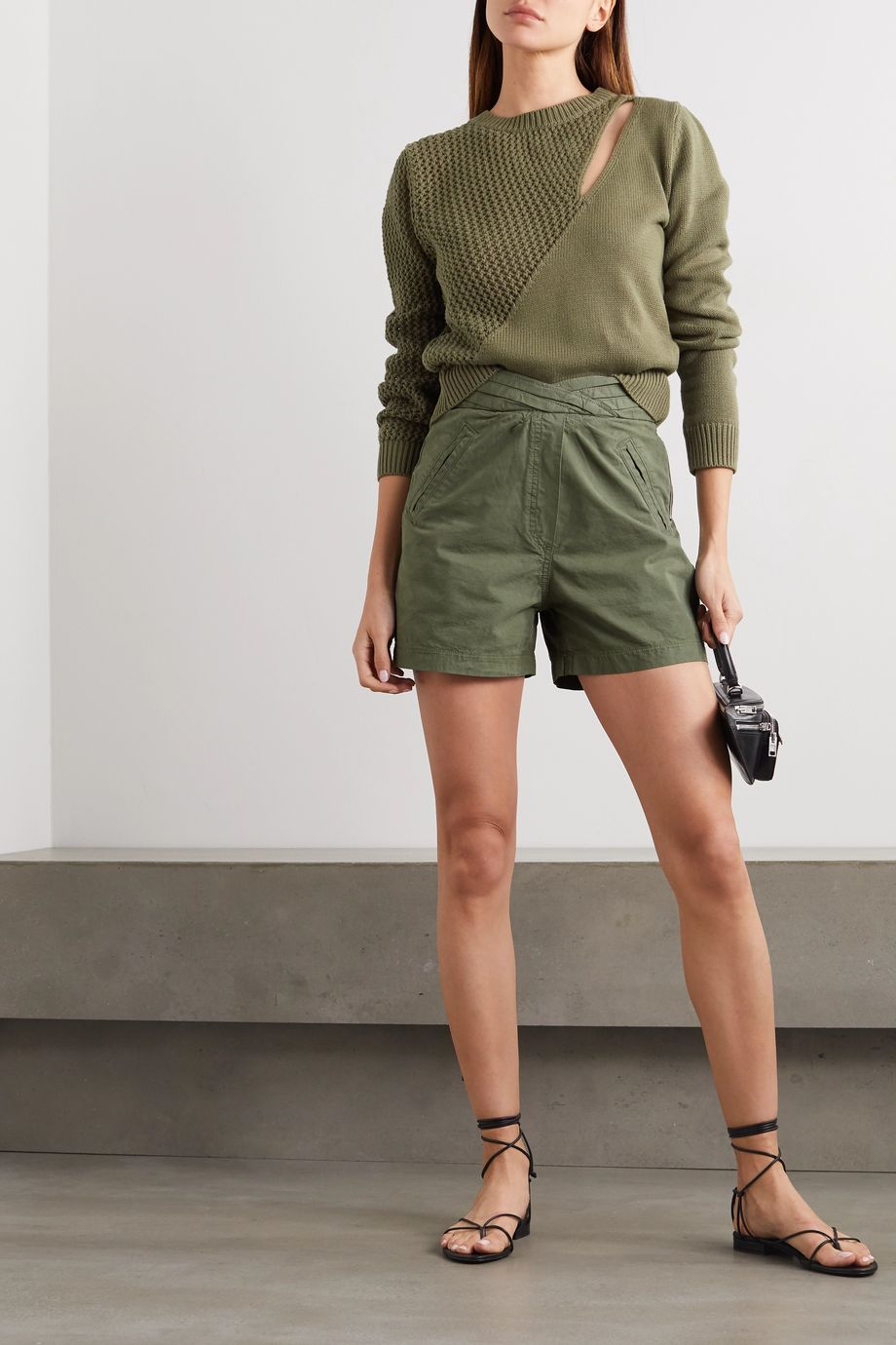 RtA Ellena cotton shorts