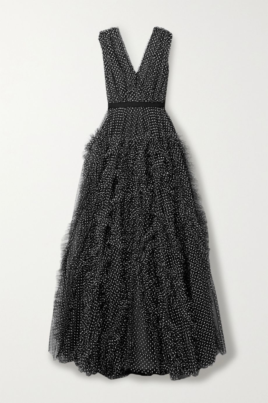 Jason Wu Collection Ruffled fil coupé tulle gown