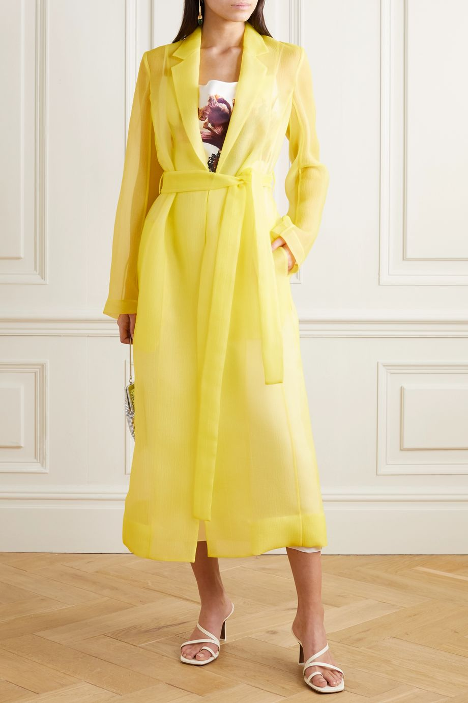 Jason Wu Collection Crinkled-organza coat