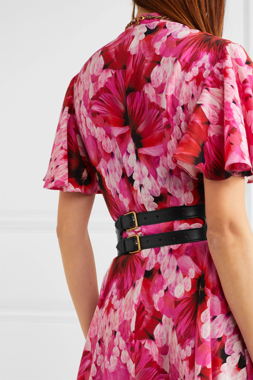 Alexander McQueen Buckle-detailed leather corset belt