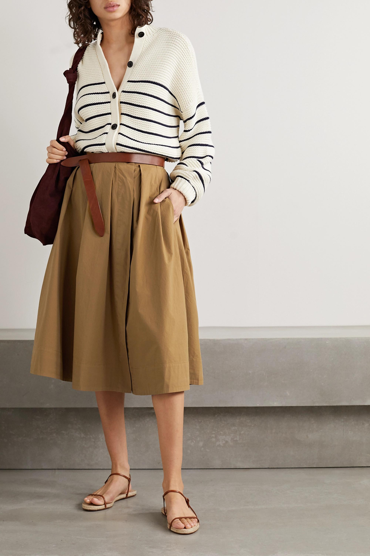 Alex Mill Pleated cotton-poplin midi skirt