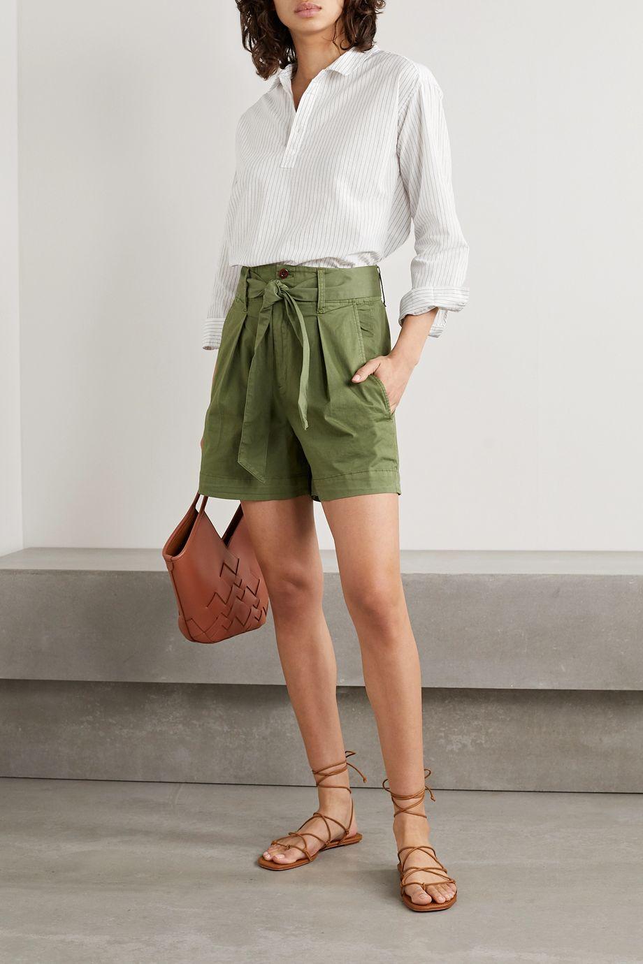 Alex Mill Pinstriped cotton and linen-blend shirt