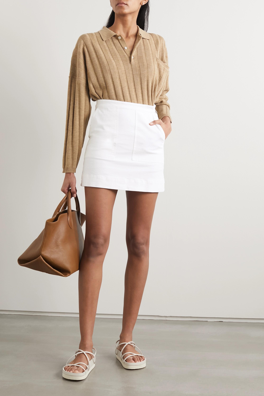 Alex Mill Cotton-blend twill mini skirt