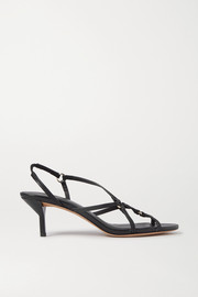 Louise leather slingback sandals