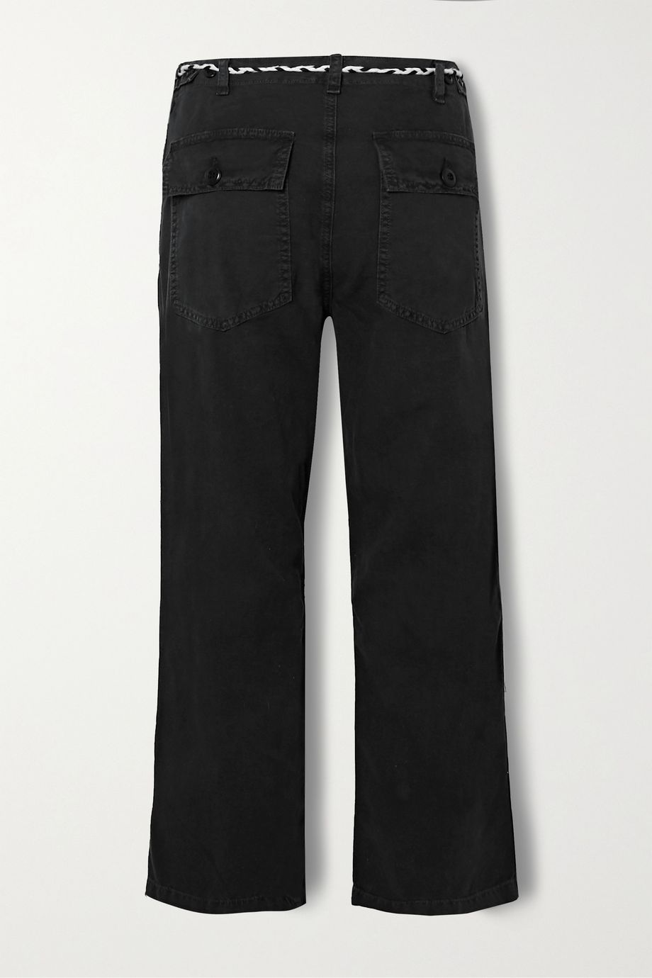 The Great The Vintage belted cotton-canvas straight-leg pants