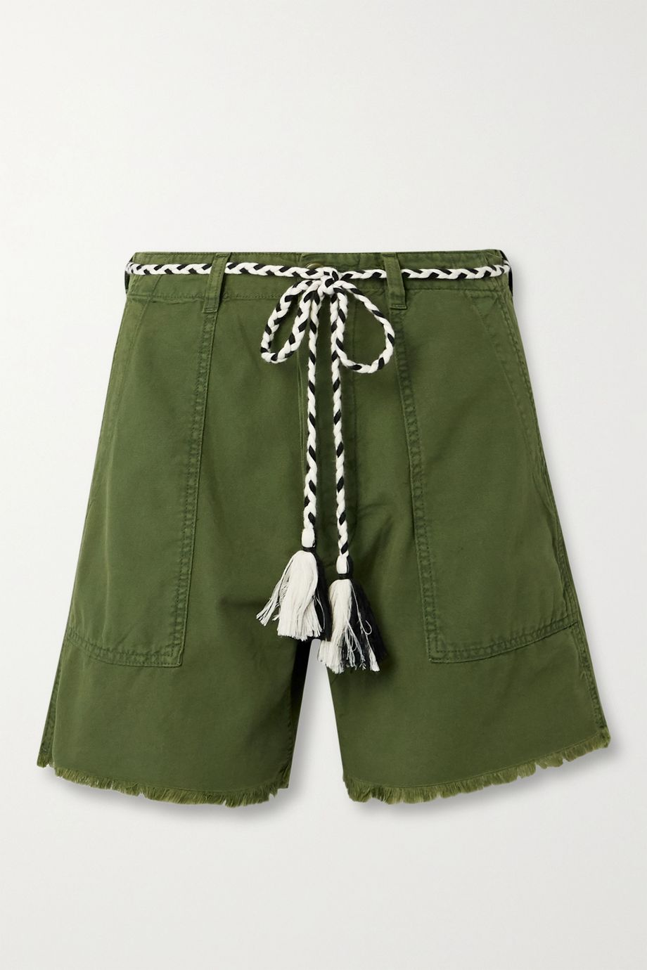 The Great The Vintage Army belted cotton shorts