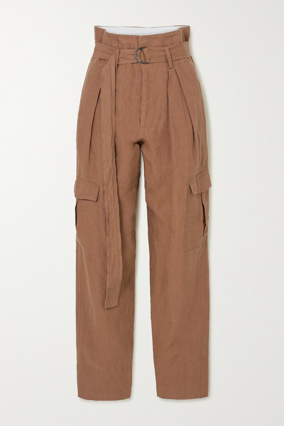 Bassike + Space For Giants belted linen pants
