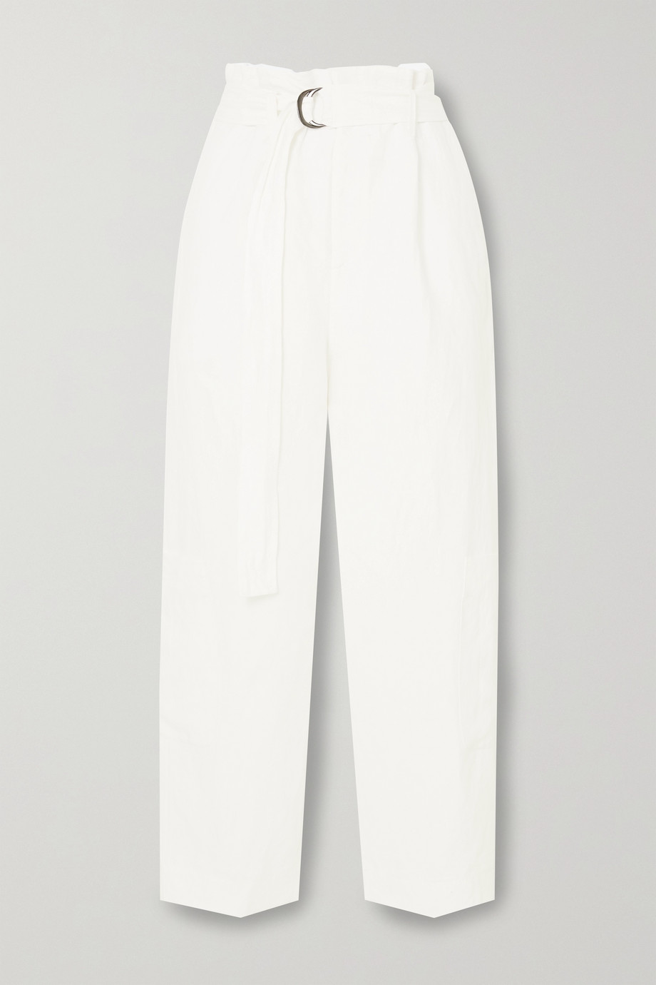 Bassike + Space For Giants oversized belted linen pants