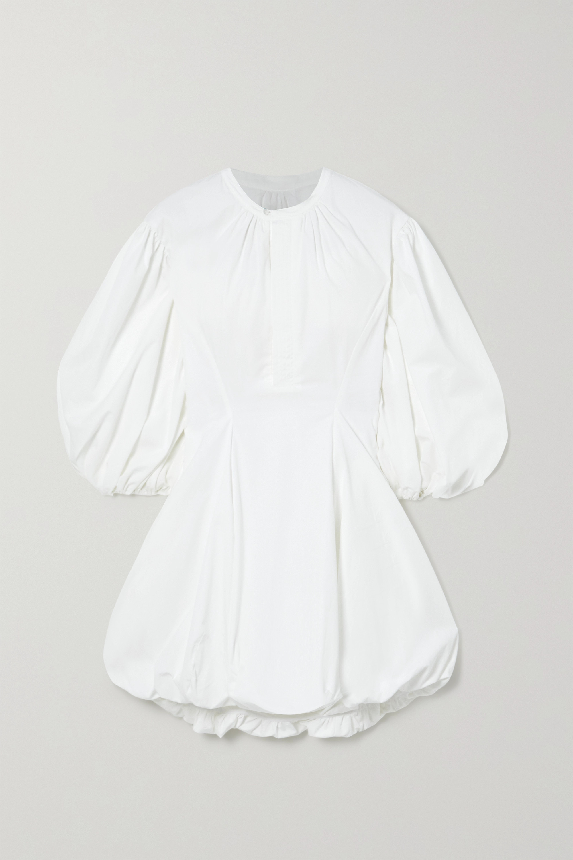 Bassike Gathered cotton-poplin mini dress