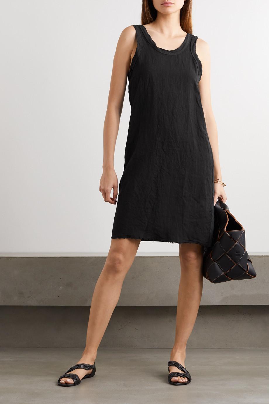 Bassike Organic cotton-trimmed linen-jersey mini dress