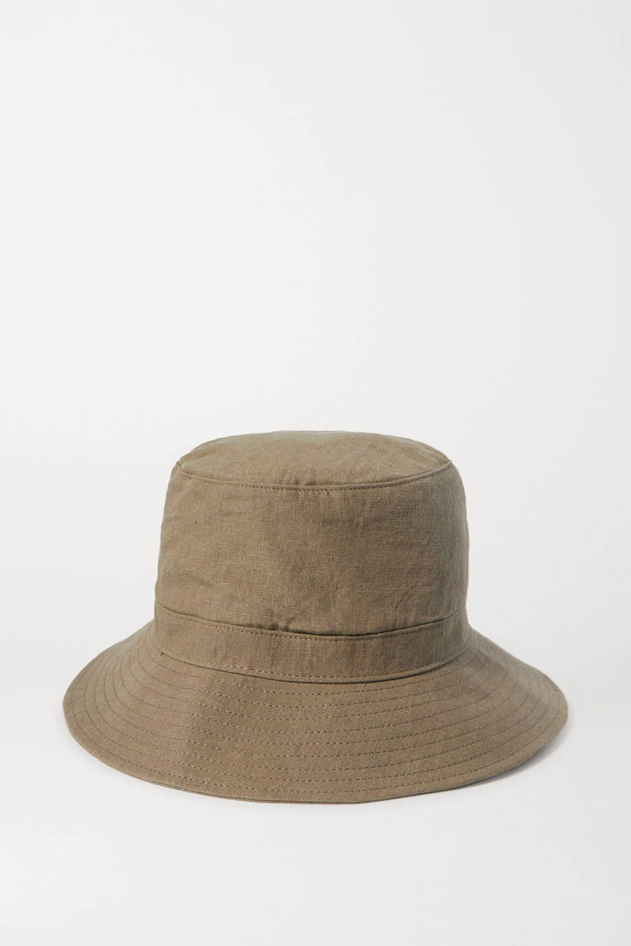 Bassike + Space For Giants linen bucket hat