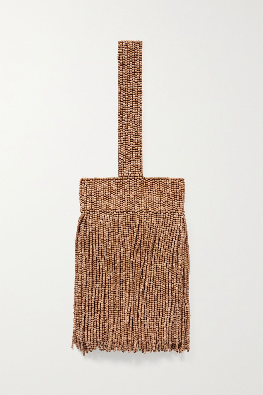 Cult Gaia Farah fringed beaded satin tote