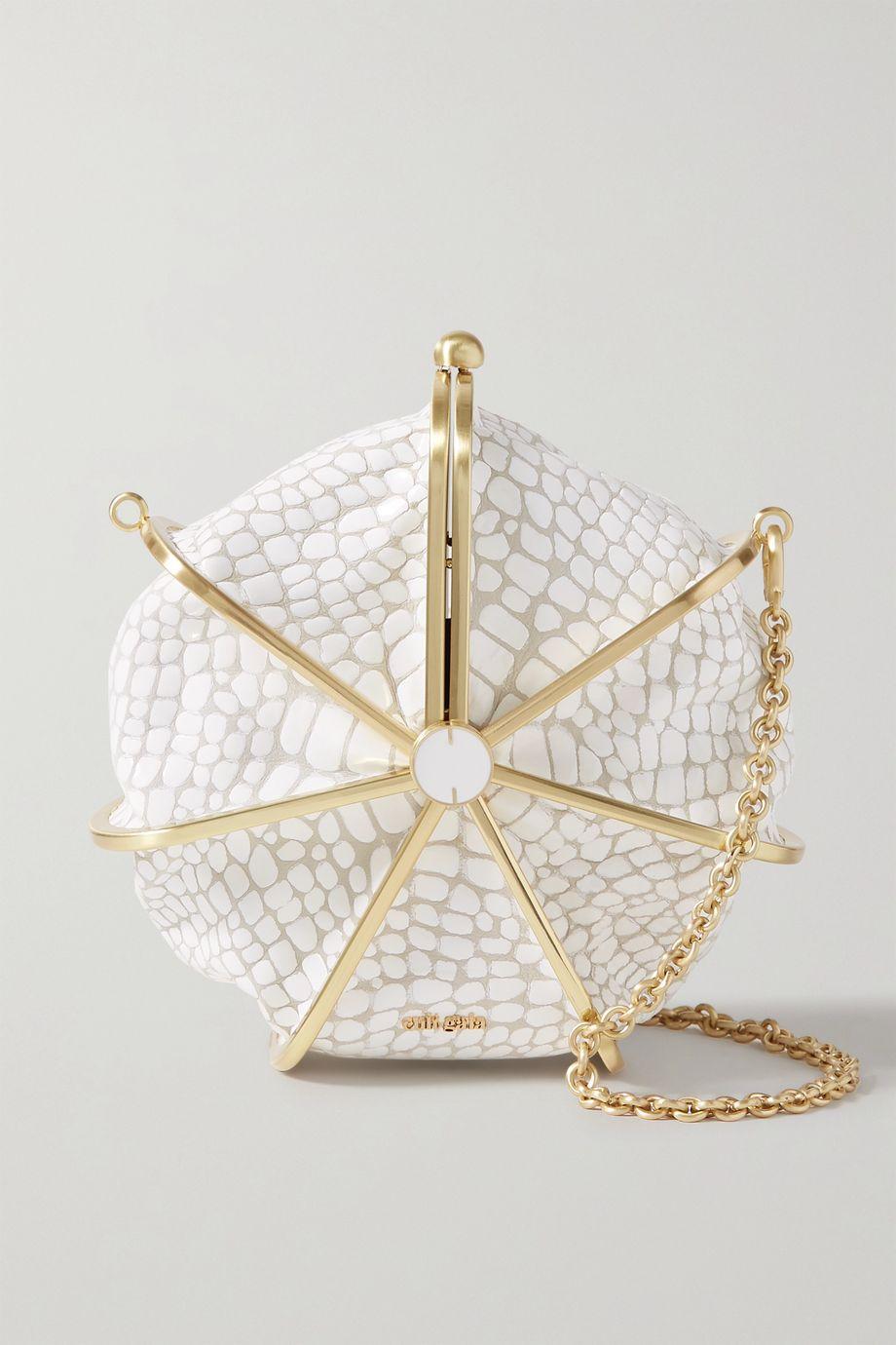 Cult Gaia Nika croc-effect leather shoulder bag