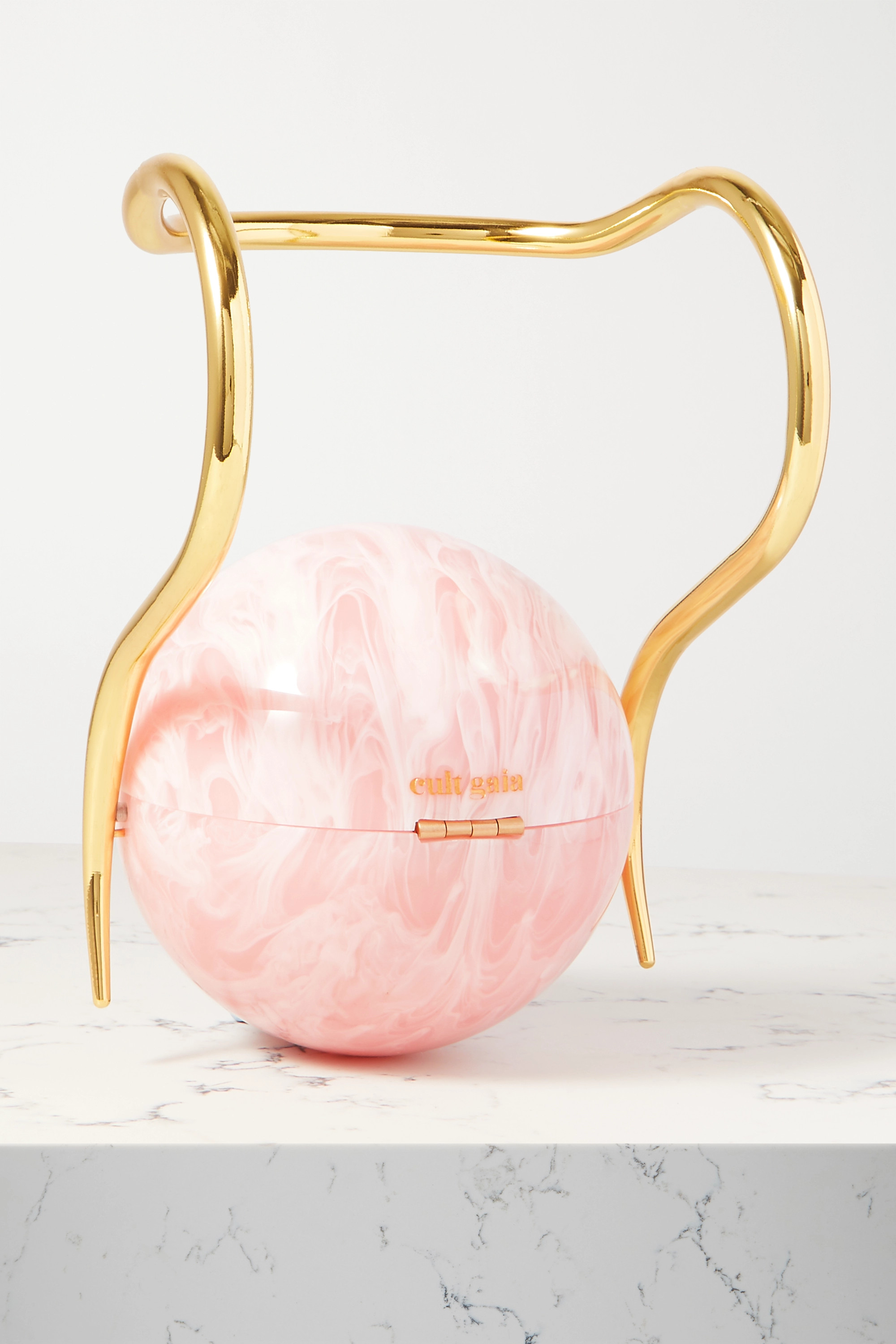 Cult Gaia Pearl marbled acrylic and gold-tone tote