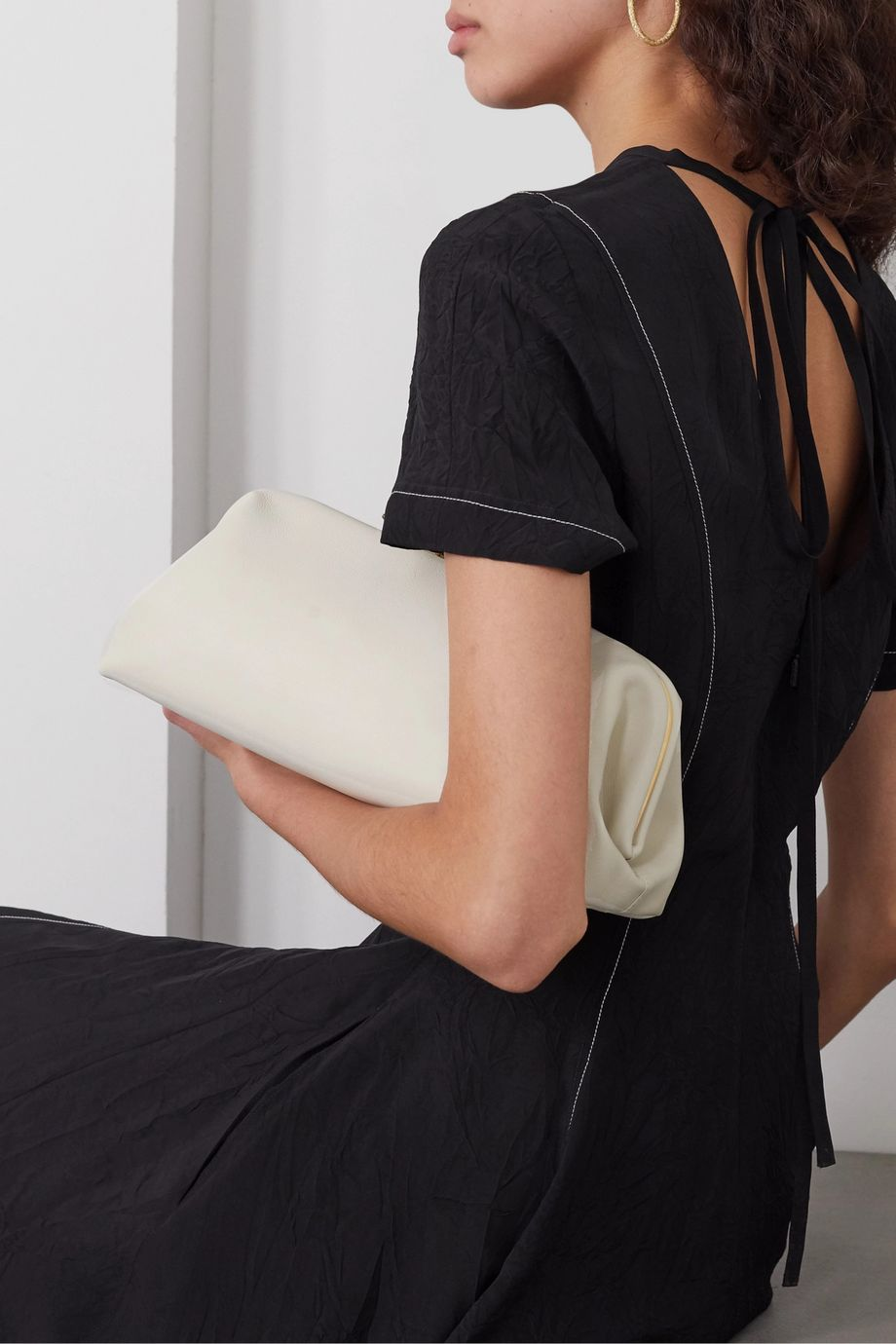 Little Liffner Oyster leather clutch